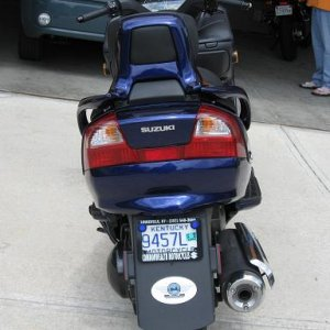 Rearview with BUSA decal