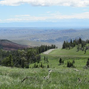 View west from the Bighorn Mountains